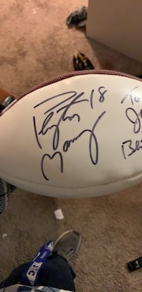 Football signed by Peyton Manning  Glendale, 80246