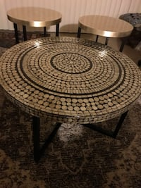 "New breathtaking set of handcrafted mosaic tables coffee 31x18"" end table 18x20"" click on my profile picture on this page to check out my other listings message me if you interested pick up in Gaithersburg Maryland 20877 all sales final  Gaithersburg, 20877"