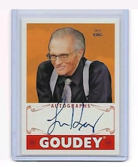 Larry king autographed card  Jessup, 20794