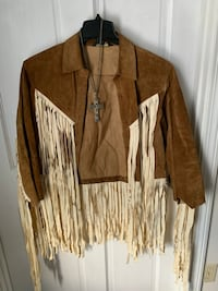 Vintage suede hippie 1969 style fringe outfit  Norwood, 02062