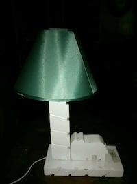 green and white table lamp Sumter, 29153