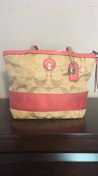 Pink monogram Coach purse and wallet