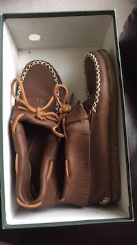 Roots tribe leather moccasins