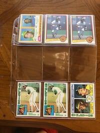 Baseball cards all in very good/ excellent condition.  Oakland, 94611