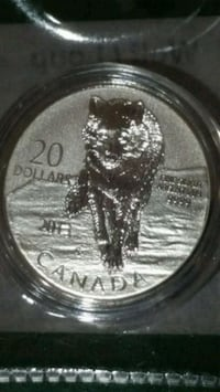 Wolf pure Silver limited edition coin Canada  Toronto, M3C 4C5