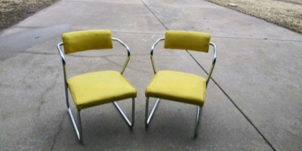 Collectibles Yellow Chrome Chair