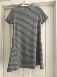 Gray and black striped Zara dress medium Edmonton, T6R 2J5