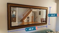 Rustic Stain Rectangular Framed Wall Mirror null