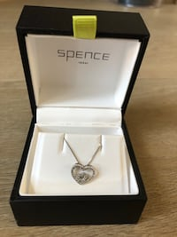 14k white gold heart necklace from Spence Port Coquitlam