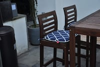 Three 2in thick chair cushions (indoor/outdoor)