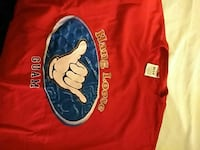 red and blue hang loose crew-neck t-shirt Franklin, 16323