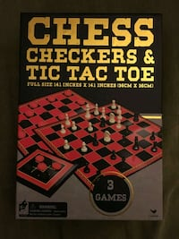 Game box: Checkers, Chess, Tic-Tac-Toe Washington, 20008