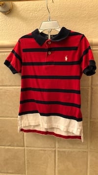 red and black striped polo shirt El Centro, 92243