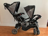 baby's black and gray stroller Montréal, H1H 3K5