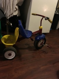 blue and red trike