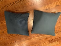 """(2) 17"""" blue throw pillows Chevy Chase, 20815"""