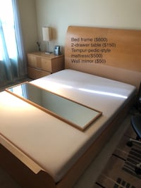 white and brown wooden bed frame Rockville, 20852