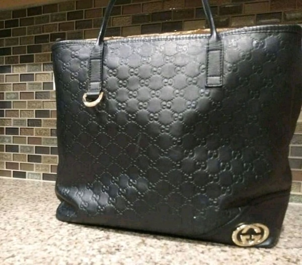 3bf09b1485d Used black leather Gucci tote bag for sale in Sacramento - letgo
