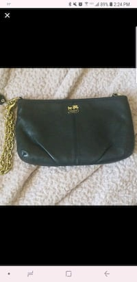 black leather Coach large clutch Chicago, 60613