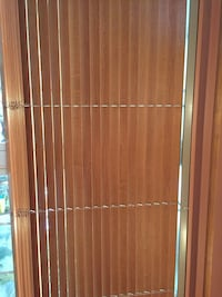 "Solid wood blinds approx 76 inches and solid wood pole 86"" orig 350.00 for the blinds"