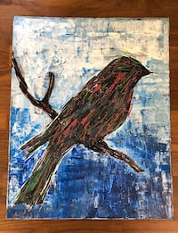 Bird on branch painting Clifton