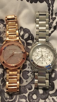 MK Watches silver and rose gold