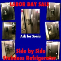 Side By Side Stainless Refrigerators  Paramount, 90723