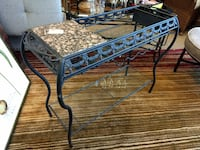 Console / Wine Bar / Metal Frame Cart / Glass and Marble 60081