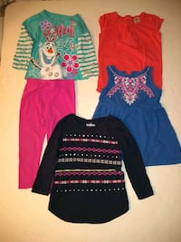 Girl 4 shirts ,1 legging ,size 2t Cooper City