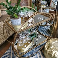 Gold Art Deco Bar Cart Toronto, M6N 5H6