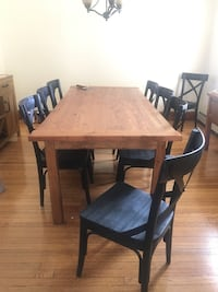 Hand made rustic table and 8 chairs Woodbridge, 07095