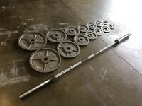 Olympic Weights Set 255lbs + Olympic Barbell Clackamas, 97015