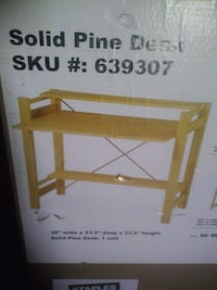 New solid pine desk from Staples
