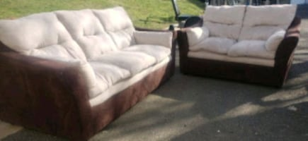 Microfiber 2Pc. Sofa And Loveseat- DELIVERY AVAILABLE