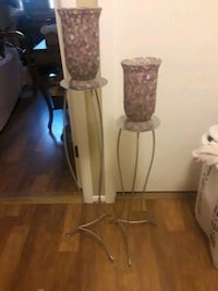 Candle stands with vases 20 mi