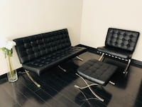 Modern century knoll Barcelona leather sofa complete set Simi Valley, 93065