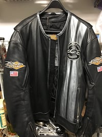 Orange County Choppers leather motorcycle jacket sz L