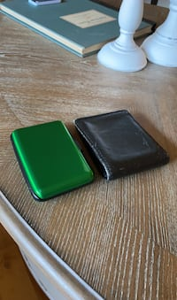2 Wallets (Card wallet and Leather wallet)