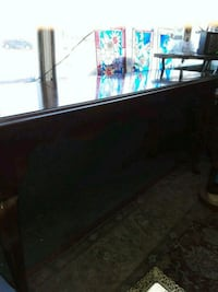 black wooden framed glass top table Odenton, 21113
