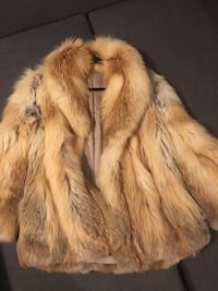 Red Fox Fur Jacket Worn Once for Christmas Party Mississauga, L4X 1T3