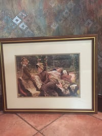 brown wooden framed painting of woman Vaughan, L4L 5K9