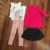 Set of 5 girls clothing items
