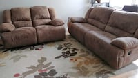 Micro suede recliner sofa and loveseat San Diego, 92117