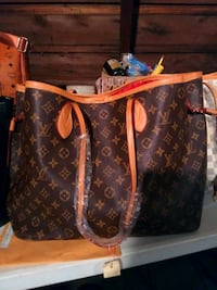 brown Louis Vuitton leather tote bag Rockford, 61102
