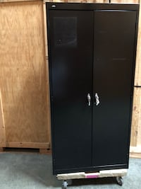 Black metal storage cabinet  Pomona, 91767