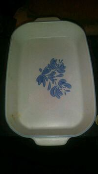 white and blue floral ceramic plate Long Beach, 90804