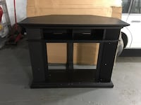 black wooden TV stand with cabinet Cambridge, N3H 4R7
