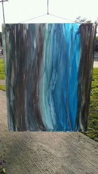 blue and black abstract painting Clover, 29710