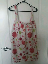 white and pink floral sleeveless dress Port Coquitlam, V3B 1H4