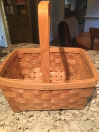 Longaberger handled basket